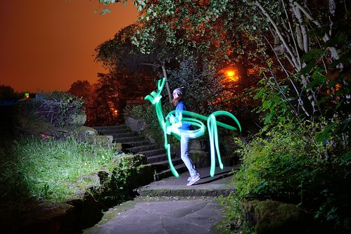 Light painted horse by kewl