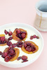 Thumbnail image for Cherry Stuffed Caramelized Peaches With Custard Cream