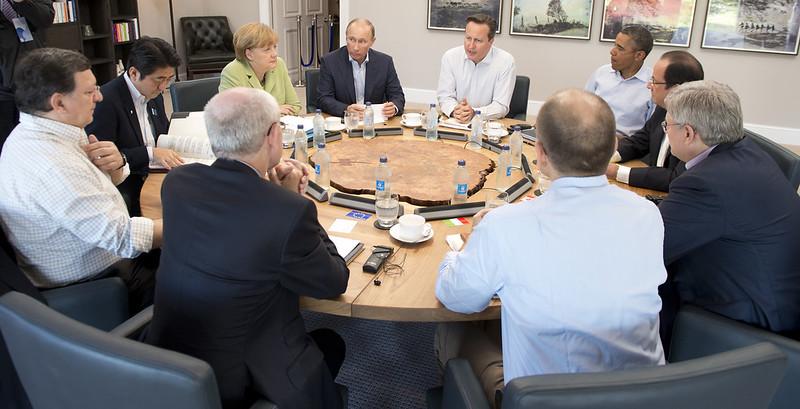 Sommet du G8, 18 juin 2013