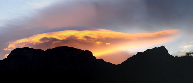After the sun drops behind Table Mountain
