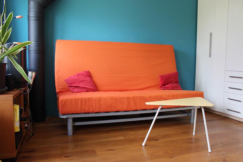 Bedbank in ORANJE