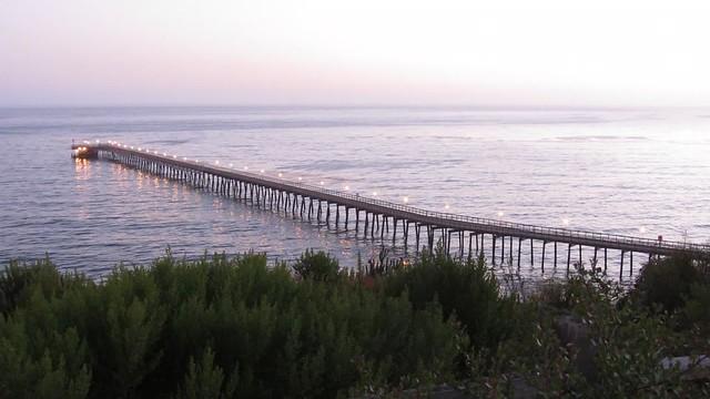 MVI_0332 130622 Bacara waves Venoco pier sunset 10s