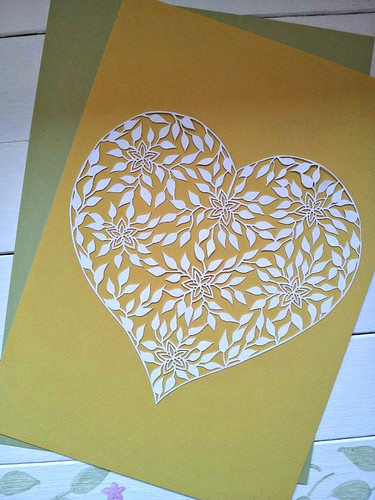 heart paper cutting
