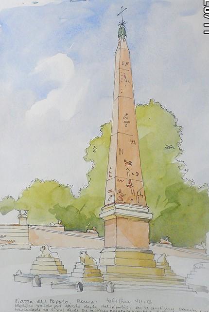 Obelisco de Piazza del Popolo. Roma