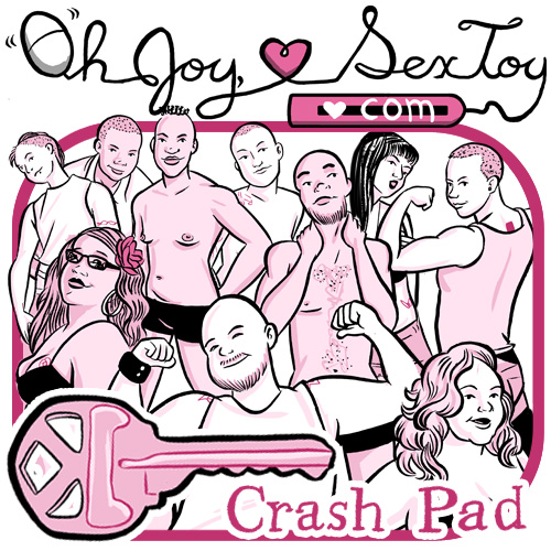a drawing of many sexy people of various genders in the porn Crash Pad