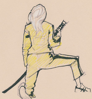 Dr. Sketchy's : Kill Bill : Kneel