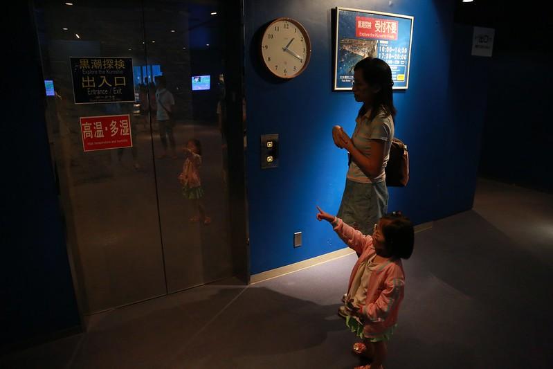 坐電梯到頂樓參觀