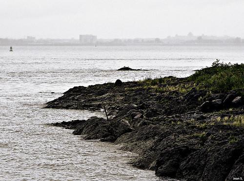 summer water rock fog stone canon river landscape island day iledorléans