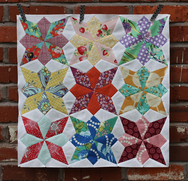 Wildflower Star Quilt top