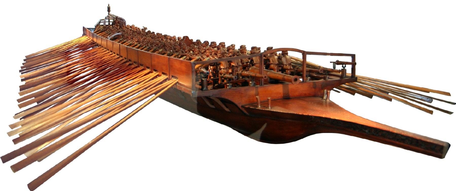 Modelo de galera veneciana. Autor, Thyes