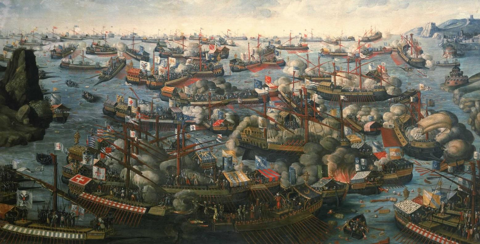 Pintura que representa la batalla de lepanto. Autor desconocido (Después de 1571)