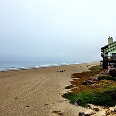 Surfing at 6am near Santa Cruz. Not the best conditions, but better to be in the water than out!