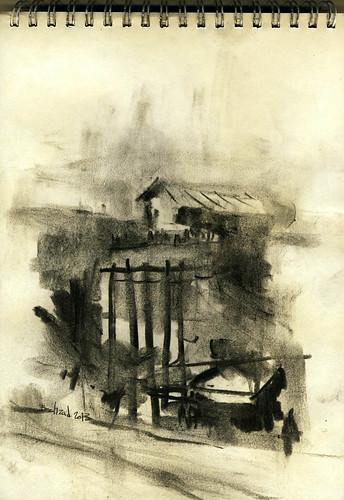Imam Hossein Square (Dolat Portal- دروازه دولت) 4 by Behzad Bagheri Sketches