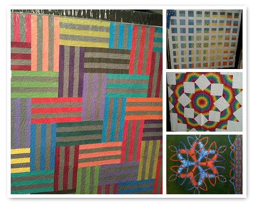 Mosaic of modern-bent quilts