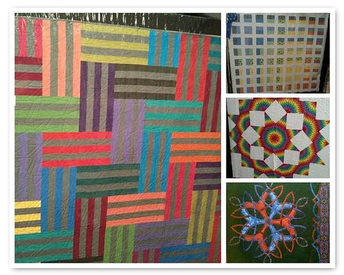 Mosaic of modern-bent quilts