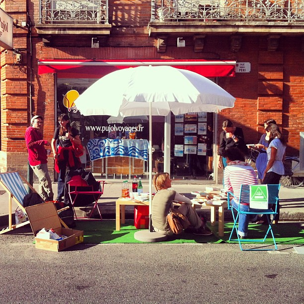 #parkingday #bookcrossing #toulouse