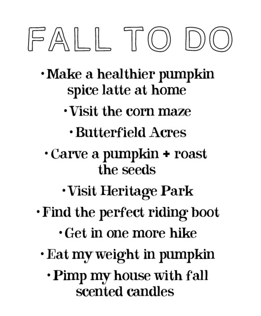 Fall To-Do