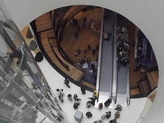 Inside the Library of Birmingham - Level 7 - a long way down