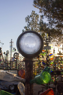 There's a Light Over at Elmer's Bottle Tree Farm