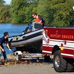 Nutley Fire Department Rescue Boat, 2013 Head of the Passaic Regatta, Passaic River, New Jersey