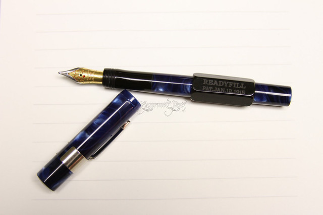 Gate City Pen - READYFILL Claire de Lune Fountain Pen - Broad @RichardsPens Uncapped