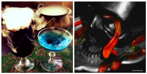 Halloween Cocktails and a DL Co Skull Candle