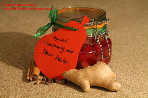 Spiced Pear and Cranberry Relish