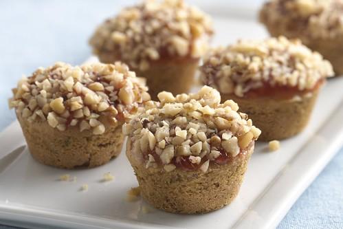 Mini pb+j muffins