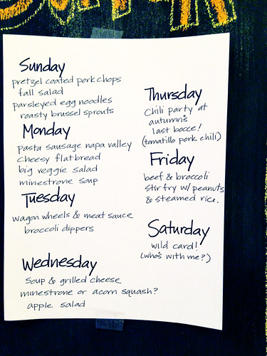 What we're eating this week...