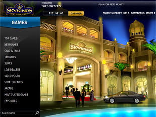 Sky Kings Casino Lobby