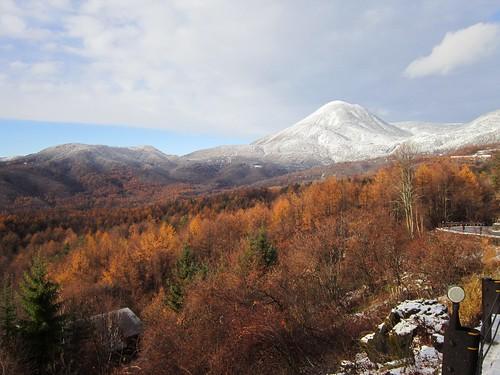 積雪した蓼科山 2013年11月15日15:03 by Poran111