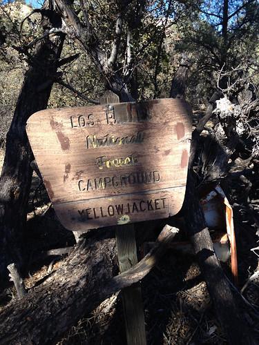 Yellowjacket Camp Sign No. 1