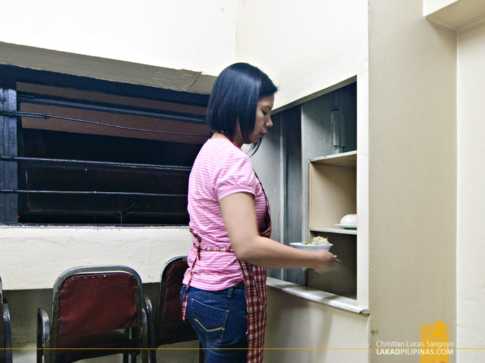 Dumbwaiter Still in Use at Luisa's Cafe in Baguio City