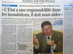 Fourques - Commemorations des inondations de 2003 - Gilles DUMAS
