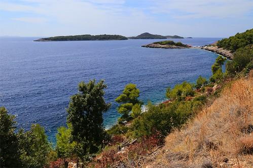 sea croatia korcula adriatic hrvatska dalmacija prizba korčula prižba prišćapac priscapac