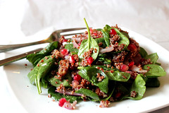 Baby Spinach & Quinoa Salad with Dates & S…