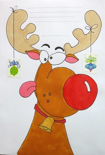 Goofy reindeer envelope to Audrey