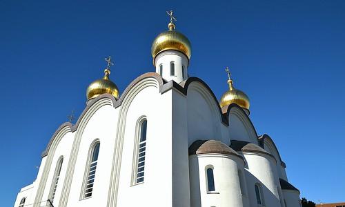 iglesia ortodoxa rusa de Santa María Magdalena, Gran Vía de Hortaleza 48, Madrid.