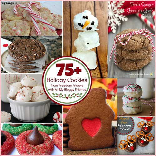 75+ Holiday Cookie Round-Up from Freedom Fridays #cookies #roundup
