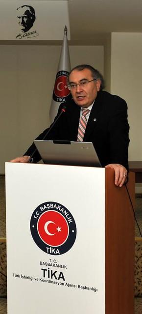 Rektör Tarhan, TİKA'da Kurum Kültürü ve İşyeri Stresi konferans verdi 2