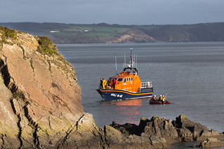 RNLI Tenby oversees the Boxing Day Swim 2013
