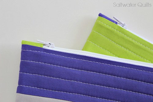 Lime and Purple Quilted Bag