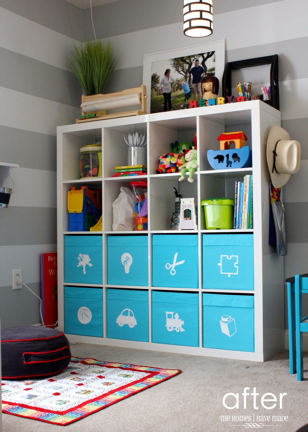 Toy Storage in an IKEA Expedit | The Homes I Have Made
