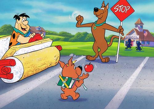 Rare! FLINTSTONES Scooby Doo YOGI BEAR Cartoon TV Photo ... |Scooby Doo Meets The Flintstones