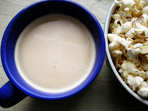buttered rum and coco almond popcorn