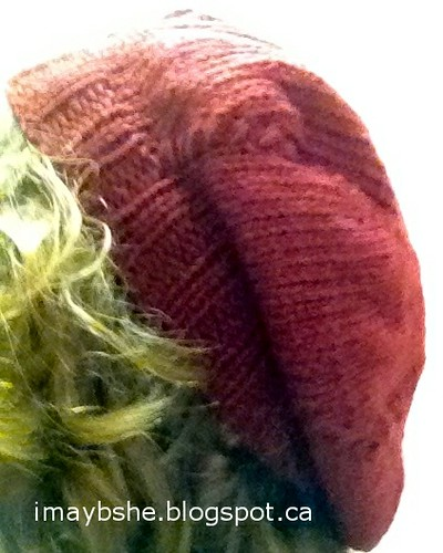 Spiral twist stitch hat