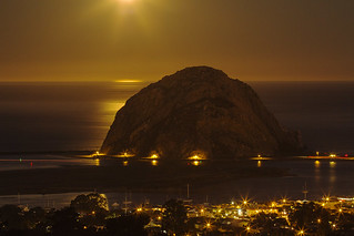 Full Moon Over Morro Rock