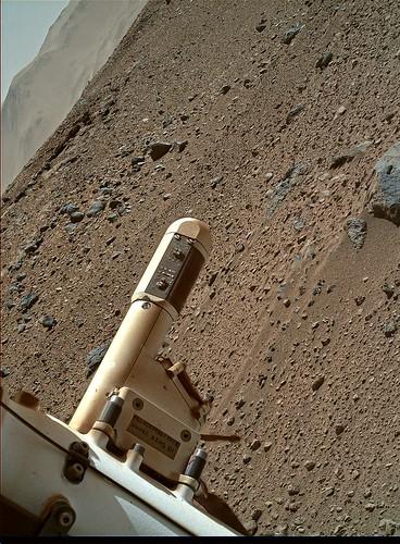 Curiosity sol 526 MAHLI - REMS stack - Boom 1