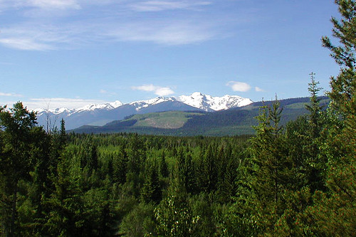 Landscape near Valemount on Yellowhead Highway 5, British Columbia, Canada