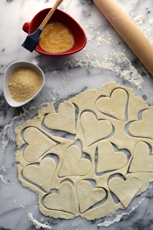 lemon raspberry pie crust hearts